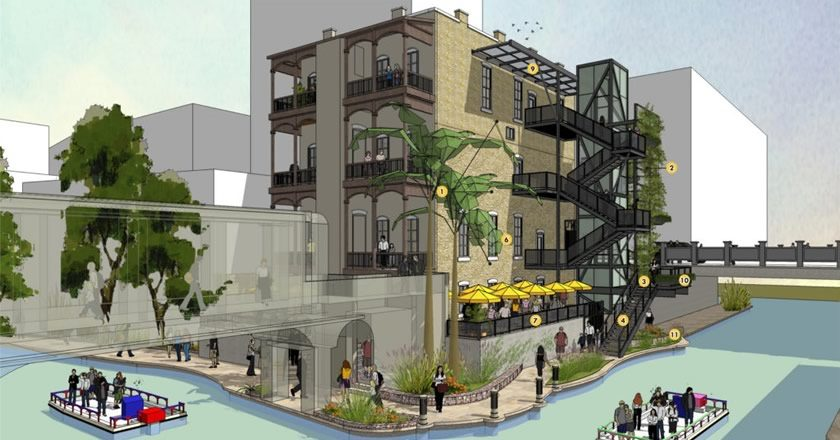 HDRC Approves River Walk Staircase, 'Green Screen' for Witte Building